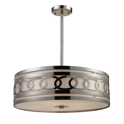 Kohut 5-Light Drum Pendant Bulb Type: Halogen