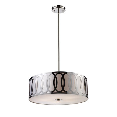 Anastasia 5-Light Drum Pendant Bulb Type: Halogen