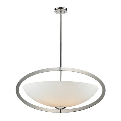 Vuelta 6-Light Inverted Pendant Finish: Polished Nickel