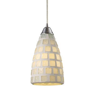 Vuelta 1-Light Pendant Finish: White