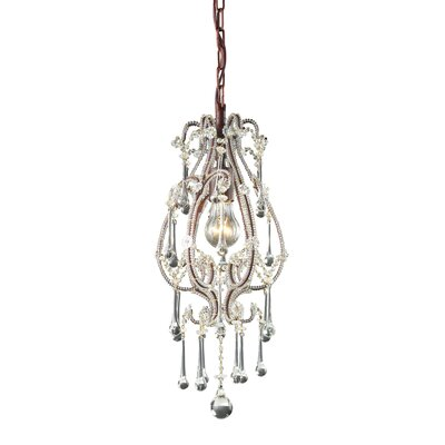Opulence 1-Light Pendant Crystals: Clear