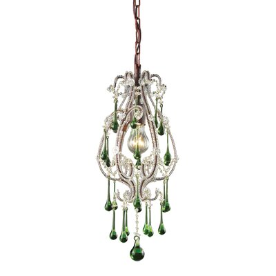 Opulence 1-Light Pendant Crystals: Lime