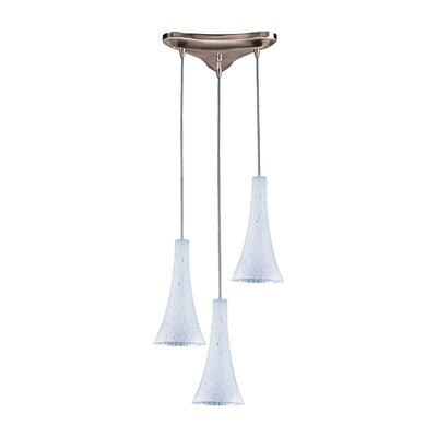 Tromba 3-Light Pendant Glass Type: Snow White