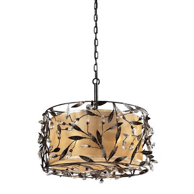 Freeport 3-Light Drum Pendant Finish: Deep Rust