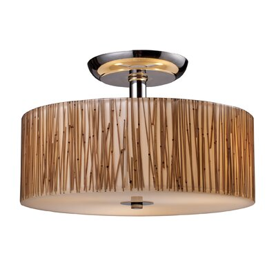 Kulikowski Modern 3-Light Semi Flush