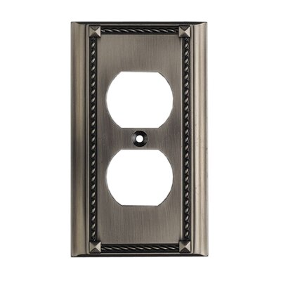 Clickplates Single Socket Plate in Antique Platinum