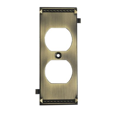 Clickplates Middle Socket Plate in Antique Brass