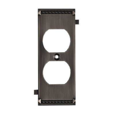 Clickplates Middle Socket Plate in Antique Platinum
