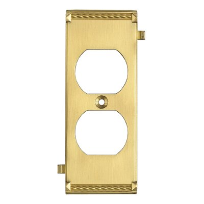 Clickplates Middle Socket Plate in Brass