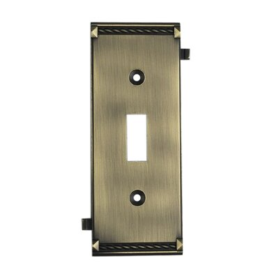 Clickplates Small Middle Switch Plate in Antique Brass
