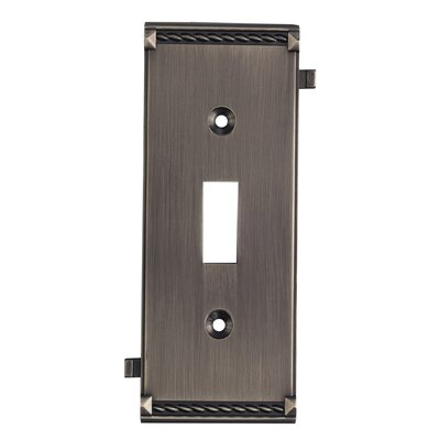 Clickplates Small Middle Switch Plate in Antique Platinum
