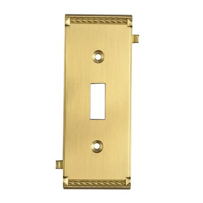Clickplates Small Middle Switch Plate in Brass