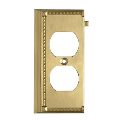 Clickplates End Socket Plate in Brass