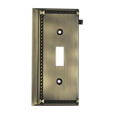 Clickplates Small End Switch Plate in Antique Brass