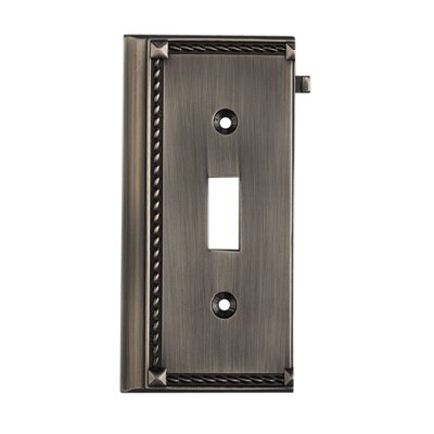 Clickplates Small End Switch Plate in Antique Platinum