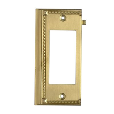Clickplates Large End Switch Plate in Brass