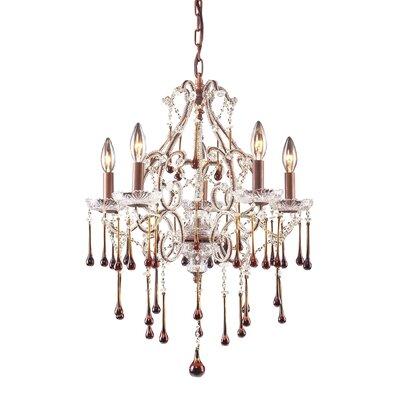 Maclennan 5-Light Crystal Chandelier
