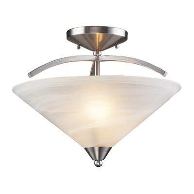 Beecroft 2-Light Semi Flush Mount Finish: Satin Nickel