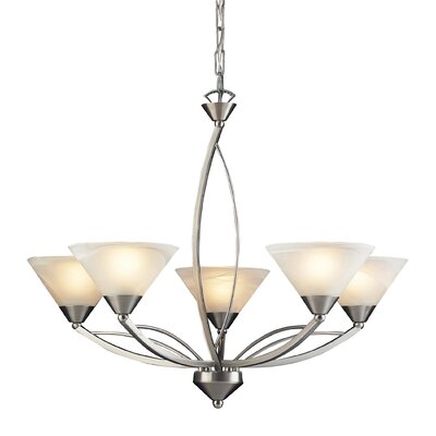 Beecroft 5-Light Glass Shaded Chandelier