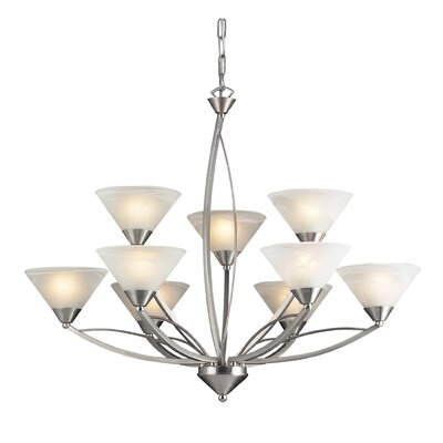Beecroft 9-Light Shaded Chandelier