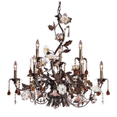 Lorraine 9-Light Candle-Style Chandelier