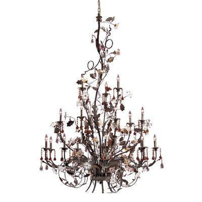 Lorraine 18-Light Candle-Style Chandelier