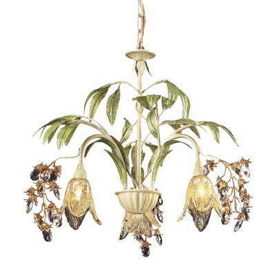 Evelyne 3-Light Shaded Chandelier