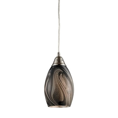 Vuelta 1-Light Pendant Glass Finish: Ashflow
