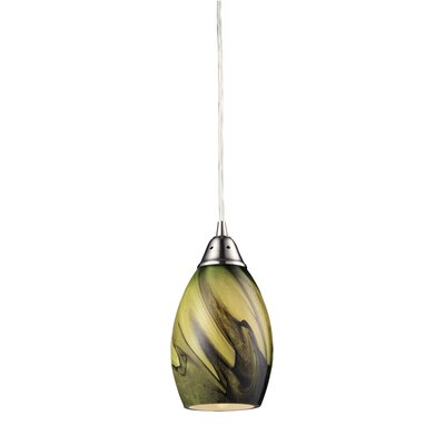 Vuelta 1-Light Pendant Glass Finish: Planetary