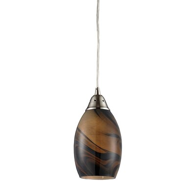 Vuelta 1-Light Pendant Glass Finish: Wavelength