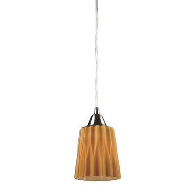 Vuelta 1-Light Pendant Glass Finish: Amber