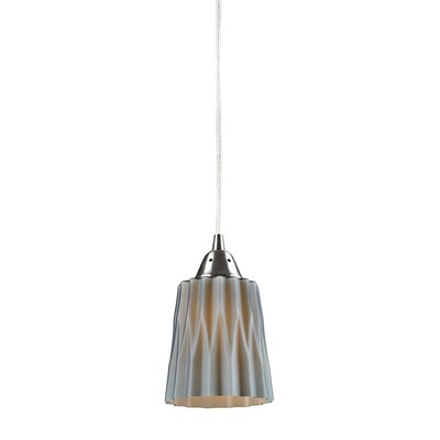 Vuelta 1-Light Pendant Glass Finish: Gray