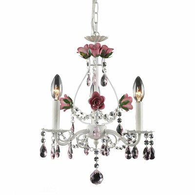 Mary-Kate and Ashley Rosavita 3-Light Crystal Chandelier