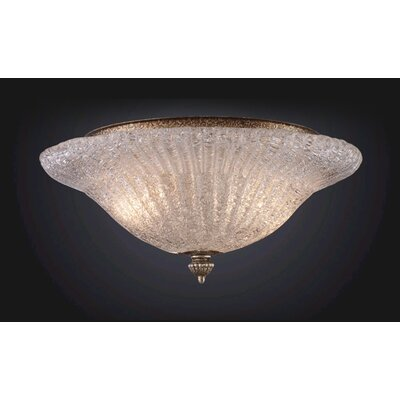 Providence 2-Light Flush Mount Finish: Antique Silver Leaf