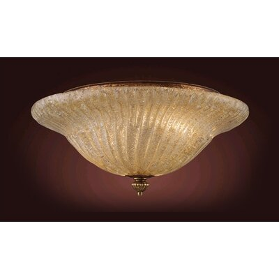 Providence 2-Light Flush Mount Finish: Antique Gold Leaf