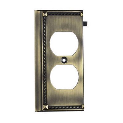 Clickplates End Socket Plate in Antique Brass