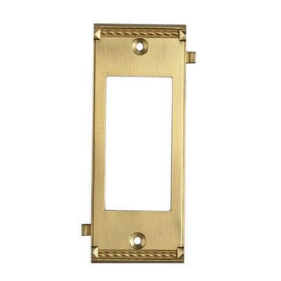 Clickplates Large Middle Switch Plate in Brass