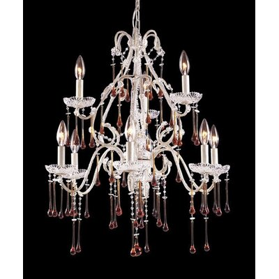 Opulence 9-Light Crystal Chandelier
