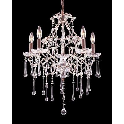 Opulence 5-Light Crystal Chandelier