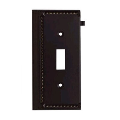 Clickplates Small End Switch Plate in Aged Bronze