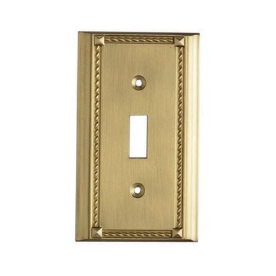 Clickplates Single Small Switch Plate in Brass