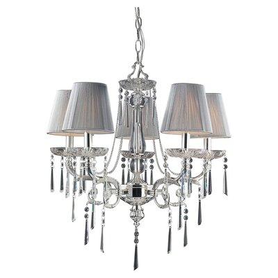 Kinser 5-Light Shaded Chandelier