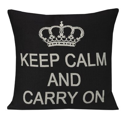 Urban Loft Keep Calm Carry Throw Pillow