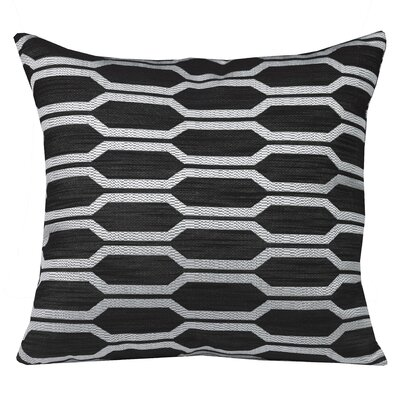 Urban Loft Hexagon Throw Pillow Color: Black