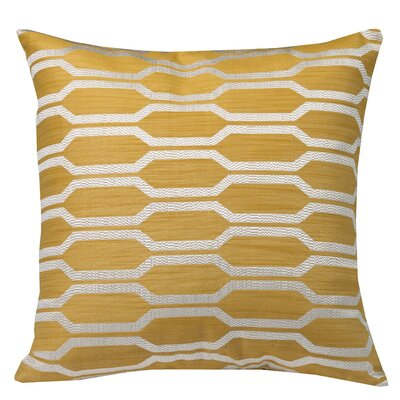 Urban Loft Hexagon Throw Pillow Color: Yellow