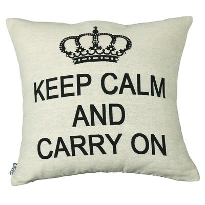 Urban Loft Keep Calm Carry On Throw Pillow