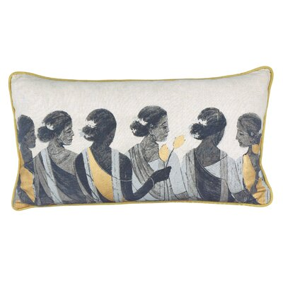 Urban Loft Women Throw Pillow Color: Gold