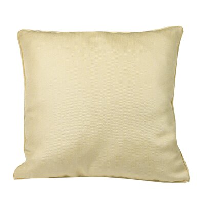 Urban Loft Linen Look Throw Pillow Color: Yellow