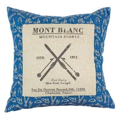 Urban Loft Winter Mont Blanc  Throw Pillow