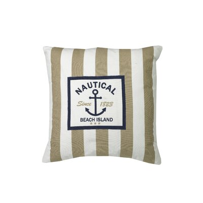 Urban Loft Nautical Stripe Be Throw Pillow Color: Beige